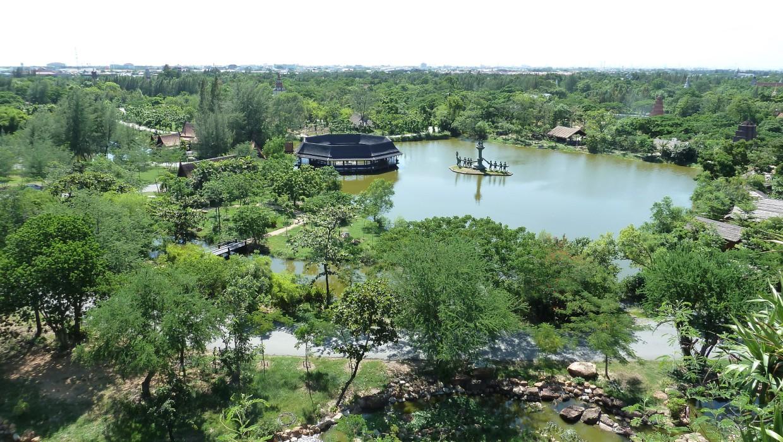 0443 15.7. Bangkok - Erawan Schrein - Ancient Siam - Ammi und Jan